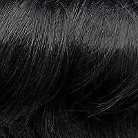 Prettyland - Extensiones postizas con coletero y moño grande estilo salvaje scrunchie - 1 chorro negro