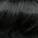 Prettyland -DQ138 50 cm lange Volumen gewellt one-piece Clip-In-Extensions Haarverlängerung Haarteil- BK01 tief schwarz