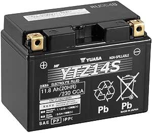 Batterie Yuasa Ytz14s 12v 11 2ah Maße 150x87x110 Für Yamaha Fz1 Fazer Baujahr 2012 Auto