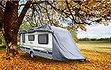 GREEN YARD IGYGAAPL0001 Abdeckplane für Wohnwagen oder Wohnmobile, 610 x 250 x 220 cm, Grau, L