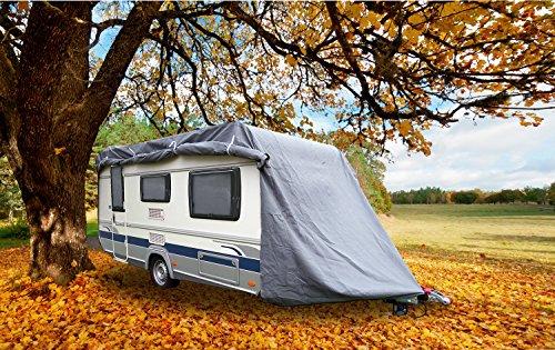 GREEN YARD IGYGAAPM0001 Abdeckplane für Wohnwagen oder Wohnmobile, 550 x 250 x 220 cm, Grau, M