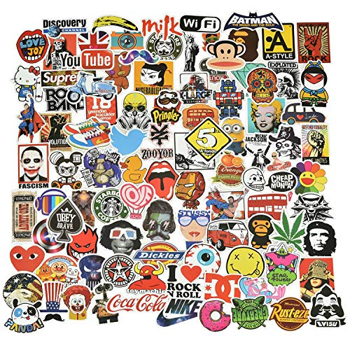 Willingood Sticker Pack [100-Pcs], Graffiti stickers, Vinyls stickers, Random Sticker, Car stickers, for Bicycle, Motorcycle, Cars, Skateboard, Laptop, Skateboard, Luggage Suitcase .