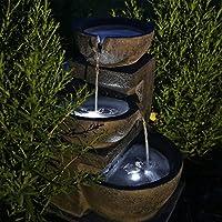 CLGarden Fontaine Solaire Nsp12 Avec Batterie Et éclairage LED Pour Jardin  Terrasse Balcon