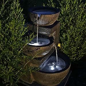 CLGarden Solar Springbrunnen NSP12 mit Akku und LED