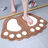 GLP Schöne Fußbahre Fußmatten Antirutsche Teppich für Eingang/Living/Bed/Bad Zimmer absorbierende schnell trocknende Indoor-Teppich Schmutzfester Fuß/Boden Schuhe Matten