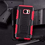 Galaxy S7 Edge Coque, Cocomii Robot Armor NEW [Heavy Duty] Premium Belt Clip Holster Kickstand Shockproof Hard Bumper Shell [Military Defender] Full Body Dual Layer Rugged Cover Case Étui Housse For Samsung G935 (Red)