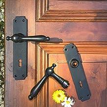 Türdrücker Kotten aus Antikeisen für Zimmertüren mit Langschildern