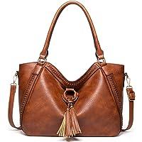 Handtasche Damen Shopper Groß Schultertasche Umhängetasche Lederhandtasche Beiläufig Damen Geldbörse Tragetasche Quaste…