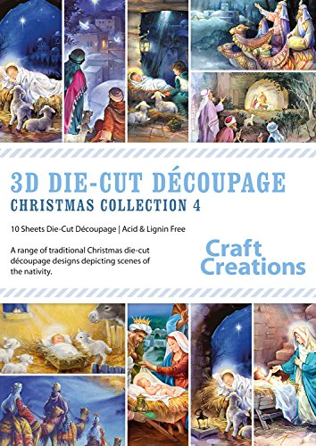 craft-creations-3d-die-cut-decoupage-collections-pk767-christmas-collection-4-a4-sheets-10-mixed-des