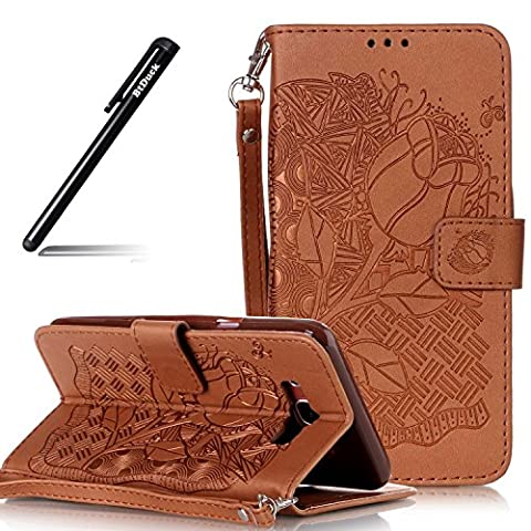Wallet Embossed Lotus Flower case for Samsung Galaxy J7 2016,Ladder flip cover for SM - J710,BtDuck protective case Leaves leaf shell Retro Black and white piano keys special ence skin Apple Samsung Galaxy J710 Holster Full-body protection machine Totem Anti-scratch Shock Resistant Strong magnetic buckle Magnet Closure [with Lanyard Strap / Rope] Credit Card/Cash Holder Slot -