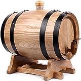 أسطوانة خشبية من خشب البلوط سعة 5 لتر للتخزين أو التقدم في السن أسطوانات النبيذ & الأرواح (اللون: #1)، اللون: #2 (اللون: #1)
