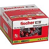 fischer DUOPOWER 8 x 40, universele pluggen, krachtige 2-componenten pluggen, kunststof pluggen voor bevestiging in beton, ba