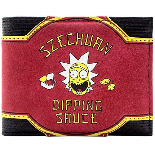 Cartera de Rick & Morty Szechuan Dipping Sauce 9 temporadas más Rojo