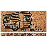Camping Fußmatte 25x50cm Schmutzmatte Fußabtreter Auswahl: Design - Yes, we camp