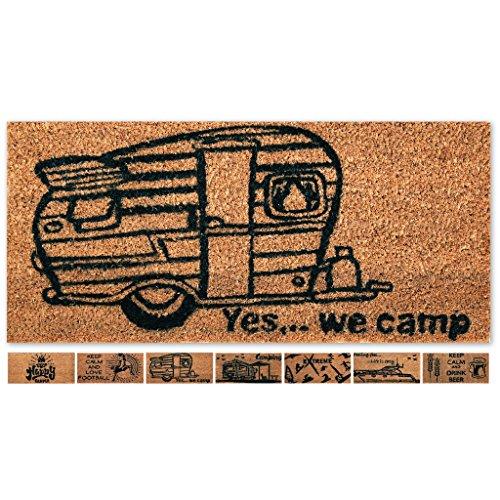 KLEEN-TEX wash+dry Fußmatte Design Happy Camping  in 2 Größen lieferbar