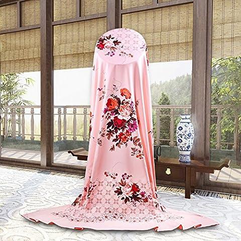 Stile cinese Stampa Tessuto di cotone fogli/Classica Lenzuolo, B, 200x228cm(79x90inch) - Tessuto Fogli Cotone