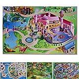 casa pura Spielmatte Im Märchen | Prinzessinnen Schloss | Phthalat-frei | erweiterbar zu Einer riesigen Spiellandschaft | 100 x 150 cm