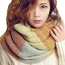 heekpek Écharpe tricotée chaude d hiver de cou de femmes, foulard de cercle  pour 46fb10702ac