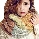 Youson Girl® Femmes Echarpe de Cou Coloré Mode Ronde Echarpe d'hiver Dames Tricoté Echarpe (C)
