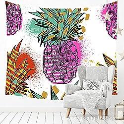 WALLhang Toalla de Playa de Frutas Habitación de Piña Tropical Toalla de Playa de Paredes Dormitorio, FY-25, 150 * 102 (cm)