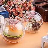 Zogin 20Pcs Bola de Navidad Adorno de DIY Transparente Bolas Vacío Rellenable Plástica - Tamaño 20X 100mm (20_x_100_mm) (10CM)