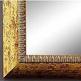 Online Galerie Bingold Spiegel Wandspiegel Badspiegel Flurspiegel Garderobenspiegel - Über 200 Größen - Turin Gold 4,0 - Außenmaß des Spiegels 50 x 80 - Wunschmaße auf Anfrage - Antik, Barock