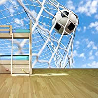 Calcio in Goal posteriore della carta da parati Net Sport parete Hobby Foto disponibile in 8 taglie Gigantesco Digitale