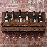 HT BEI Massivholz-Walnuss-Wand-Hängender Wein/Glascup Passend für Viele Gelegenheiten Safe und Bequemes langlebiges Gut 2 Größen 2 Arten 50cm: Kann 4 Flaschen Setzen; 70cm: Kann 6 Flaschen Setzen |