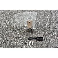 Tencasi Universal Transparent Upper Outer Windshield Air Wind Deflectors Windscreen Bracket Set Adjustable for Motorcycle
