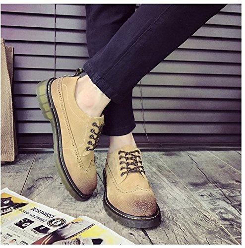 HL-PYL-Martin stivali scarpe maschio coreano bassa scarpe All-Match yellow