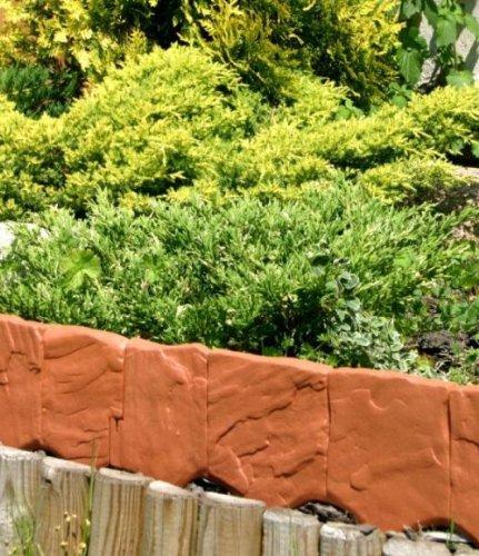 Frühjahrspreis Zaun Rasenkante Beeteinfassung Stein 2,28 m x 13 cm in terrakotta