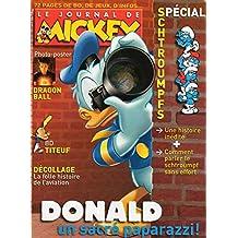 Le Journal de Mickey n° 2937 du 01 Octobre 2008 : Donald un sacré paparazzi ! / Spécial Schtroumpfs : une histoire inédite + Comment parler le Schtroumpf sans effort / Photo-poster : Dragon Ball / BD Titeuf / Décollage
