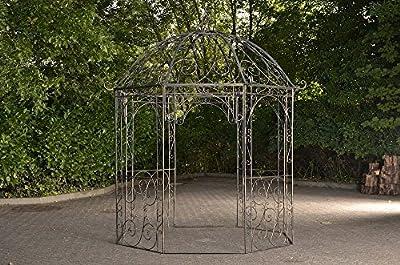 CLP runder Metall Garten-Pavillon LEILA aus Eisen, schlichtes und stilvolles Design, Ø 229 cm, Höhe 313 cm von CLP - Du und dein Garten