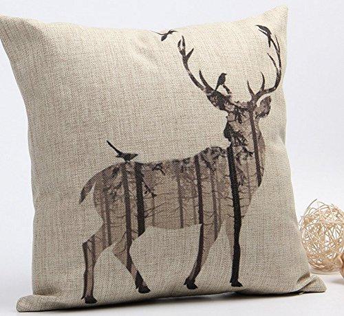 Funda de almohada vintage estándar con citas Jingle y 'all cremallera Accent almohadas para sofá D ¡§? cor 18x 18