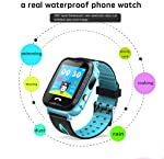 Y34 Anti Lost Child GPS Tracker SOS Positioning Tracking smart Phone GPS Watch (Blue)
