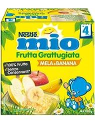 Nestlé Mio Frutta Grattugiata Mela e Banana da 4 Mesi, senza Glutine - 400 gr