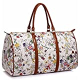 Floral Two Handle Weekend large travel Bag - One Size, White