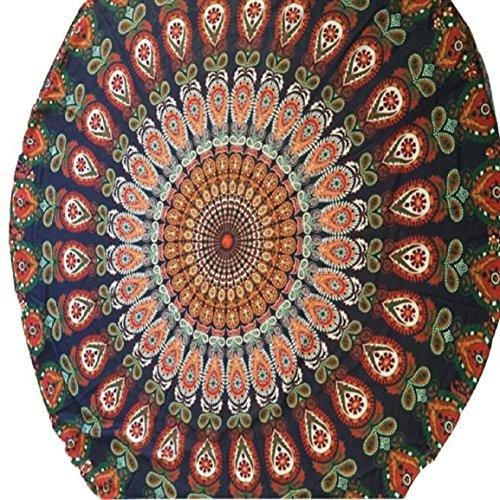 Malloom Ronde Piscine Plage De Table Serviette Maison De Douche Couverture Tapis De Yoga En Tissu