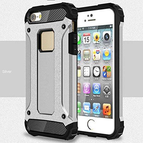 """iPhone 5S/5 Coque, AOFad Case Anti - poussière Protection des lourds 2-à-1 gris TPU Avec 10 Colors Diamond Accessoires Série Pour Femme Homme 4"""" I119 AOFad B325"""