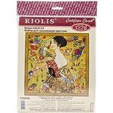 Riolis 1226 Frau mit Fächer Kreuzstichpackung, Baumwolle, mehrfarbig, 35 x 0,1 cm