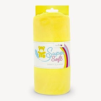 kullaloo Supersoft Shorty SB-Pack Plüschstoff 1,5 mm Flor, Minky, Gelb, 100 x 75 cm