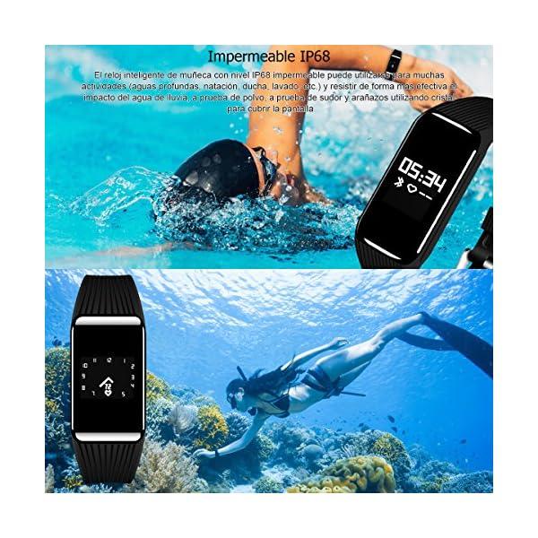 Fitness Tracker QIMAOO K1 Pulsera Actividad Inteligente IP68 Impermeable 3