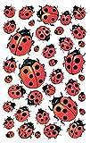 AVERY Zweckform 4400 Deko Sticker Glück Marienkäfer 114 Aufkleber
