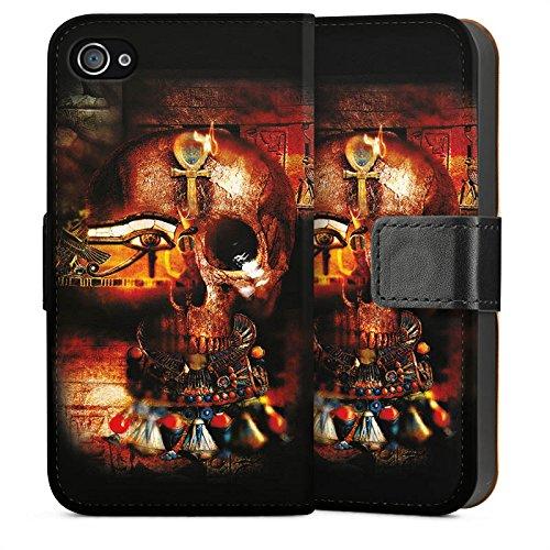 Apple iPhone 5 Housse étui coque protection Tête de mort Égypte Symbole Sideflip Sac
