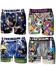 Freegun - Lapins Crétins - lot de 4 boxers homme