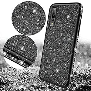 Uposao Compatible with Samsung Galaxy A7 2018 Case Glitter Cute Girl Women Bling Crystal Diamond Rhinestone Clear Protective Phone Case Cover Shockproof TPU Rubber Silicone Cover,Black Miagon Please choose the right size of your phone before purchase.Only Perfectly Design for iPhone XS/ X The design will make your phone look fashionable and let you match any occasions. Allows Easy access to all buttons, controls and ports Made of Tpu.These material are selected for quality,strength,character.Prevent from finger prints and dirt.Raised lip and camera cutout offer lens & screen protection. Drop Protection, Shock Absorption, Anti- Slip, Anti-dust. 5
