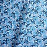 Erstklassiger Polyester Oxford 600D - Wasserdicht (blaues Blumenmuster)