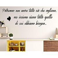 Adesivi murali frasi Famiglia Possiamo avere tutto ciò che vogliamo wall stickers frasi adesive da parete scritte…