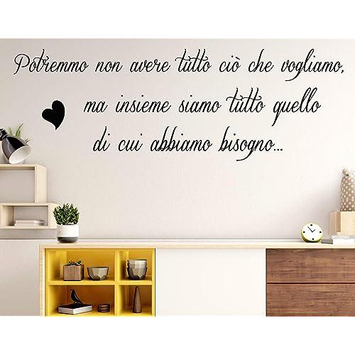 Adesivi murali frasi Famiglia Possiamo avere tutto ciò che vogliamo wall stickers frasi adesive da parete scritte adesive da muro in italiano per casa decorazione adesiva murales da parete amore Casa