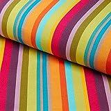 Fabulous Fabrics Outdoor Dekostoff Liegestuhl Uni, 44 cm — Meterware ab 0,5m — Zum Nähen von Outdoor-Deko, Sitzgelegenheiten und Tischdecken